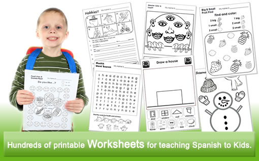 Printables Printable Spanish Worksheets For Kids spanish kids flashcards worksheets crafts for teachers kidstuff