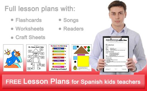 Spanish kids lesson plans worksheets flashcards songs readers – Spanish for Kids Worksheets